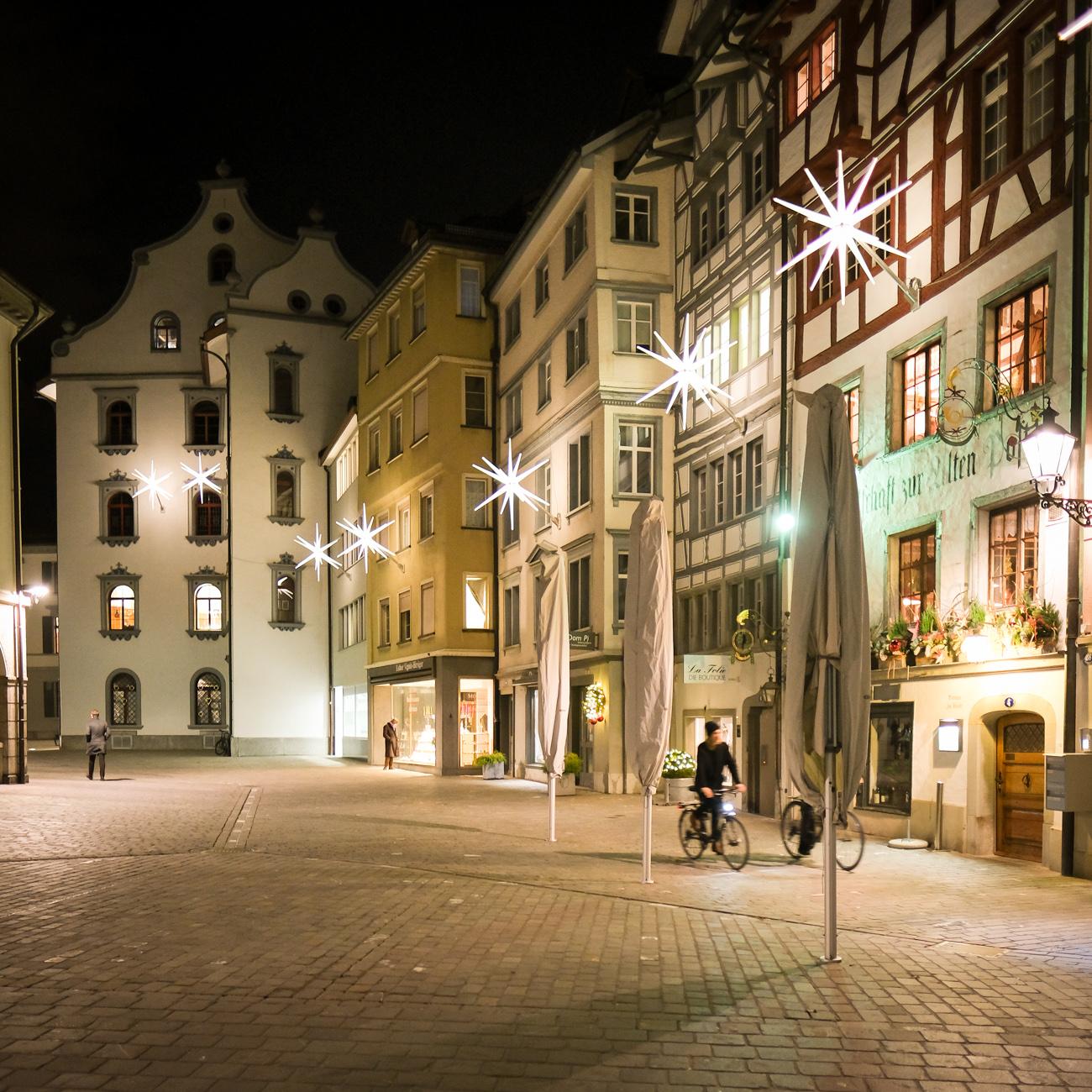 Gallusstrasse in der Altstadt St. Gallen Dez. 2018